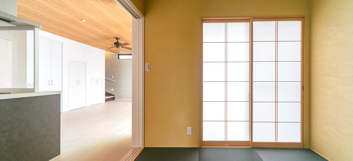 和室がLDKに隣接していることで会話の生まれる空間